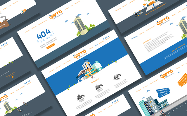 qeema corporate website design