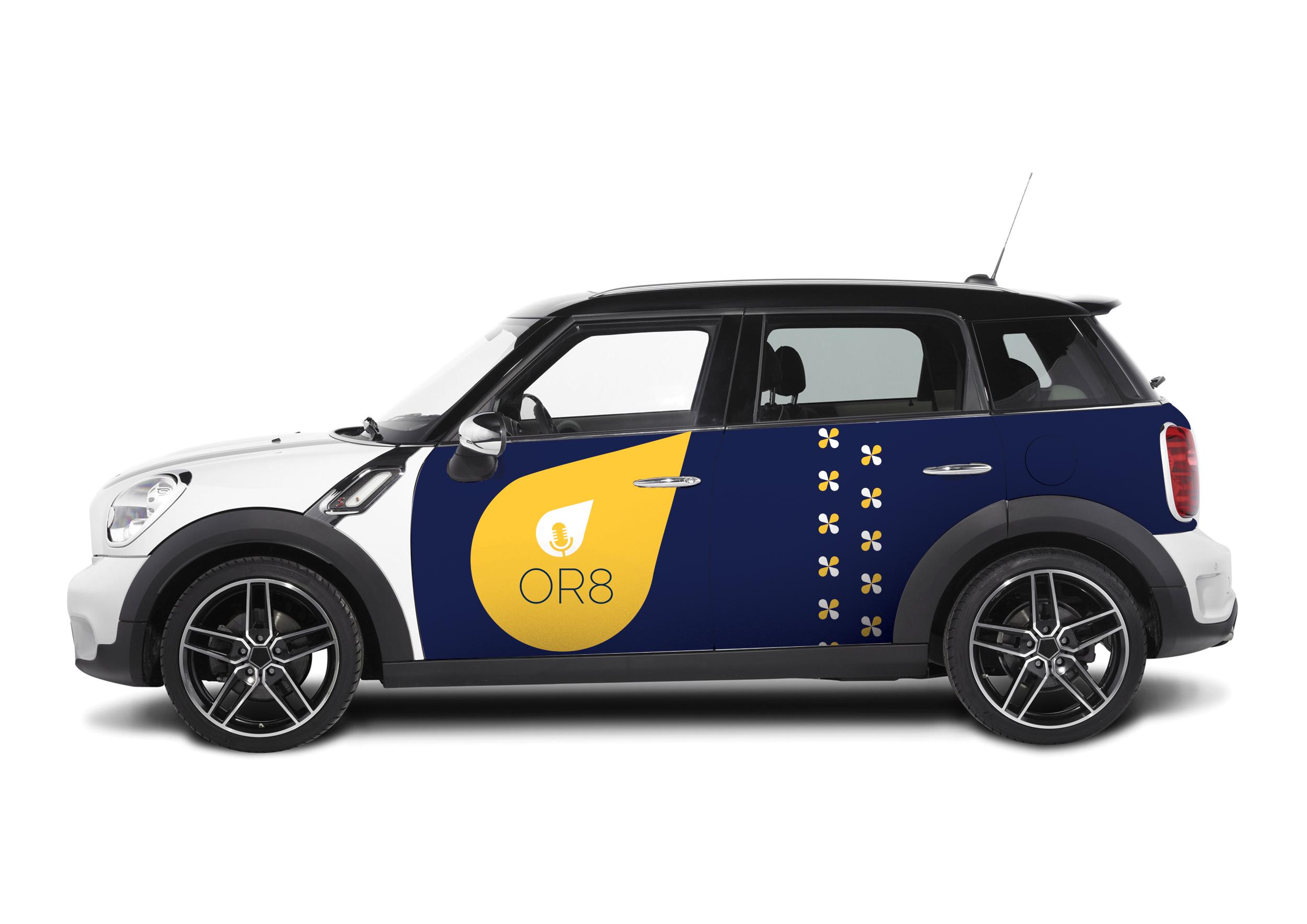 Logo Mockup on a Car