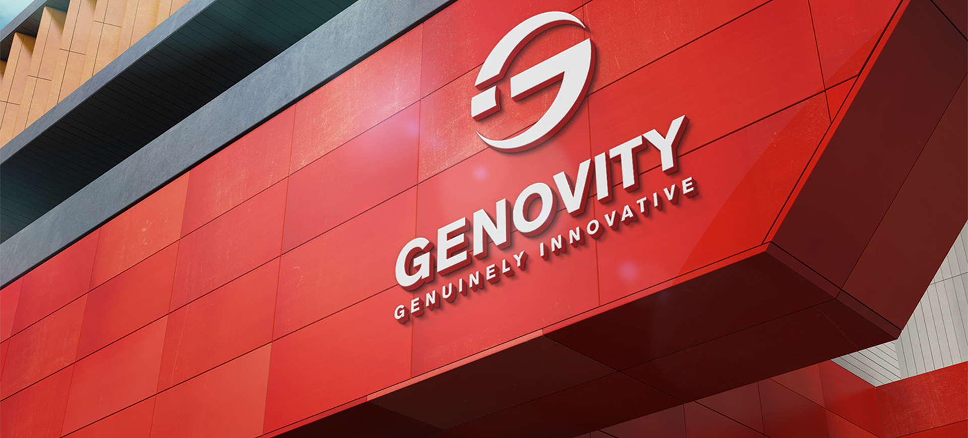 Mockup logo for Genovity