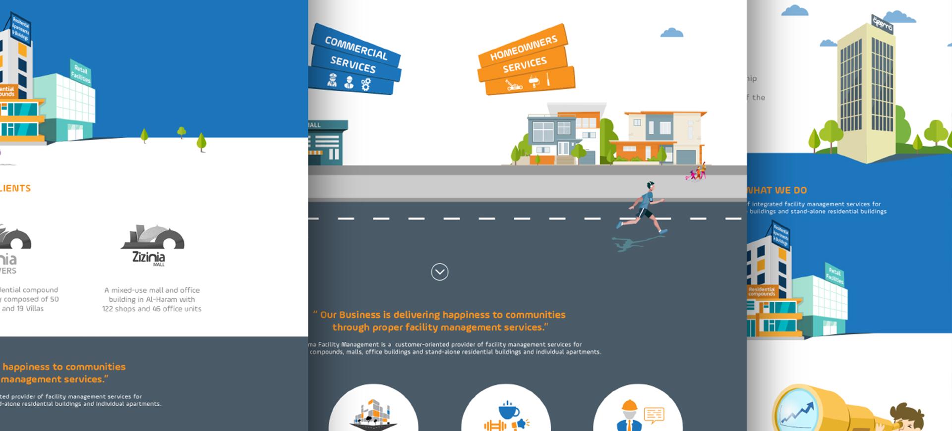 Qeema facility management corporate website